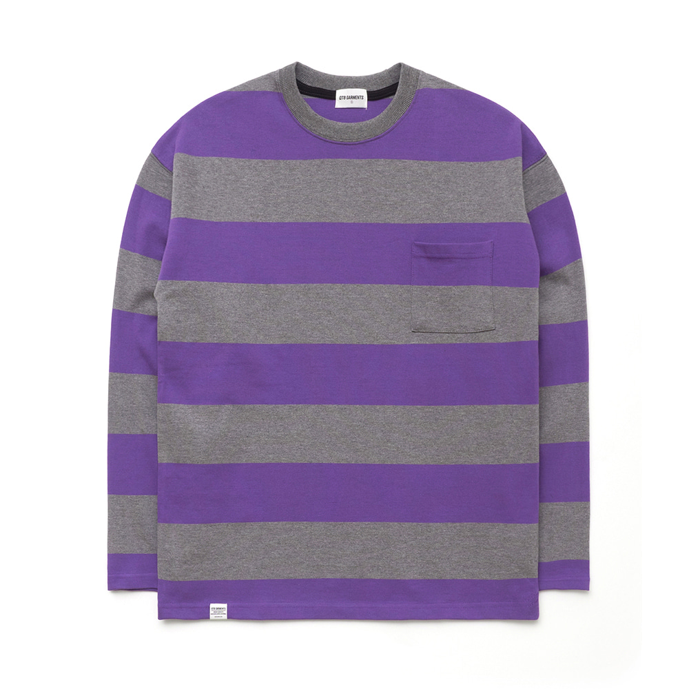 IG Wide L Sleeve (Grey/Purple)