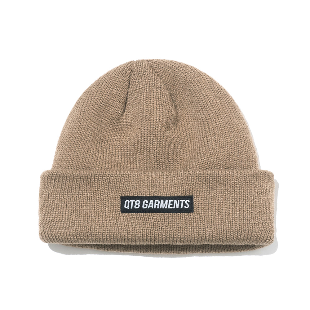 IG Short Label Beanie (Beige)