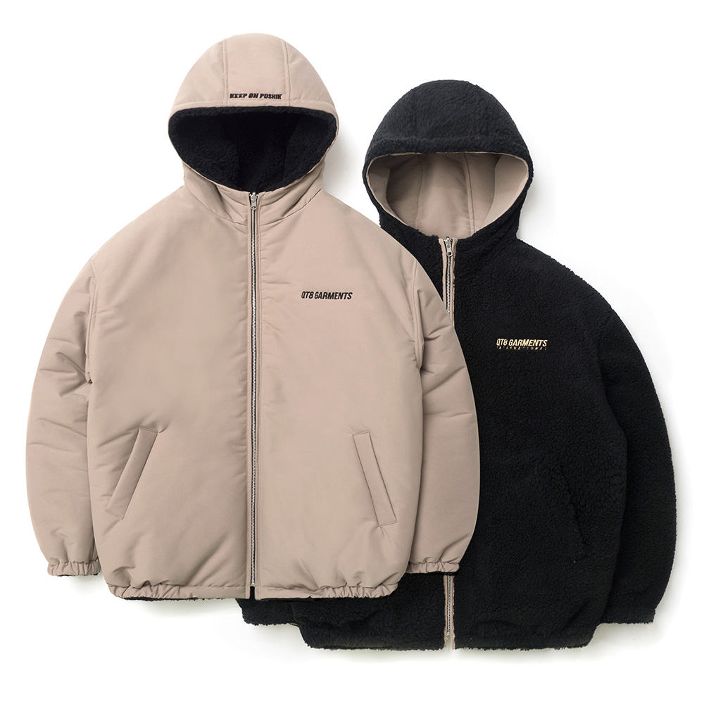 IG Fleece Reversible Hood Padding (Beige)