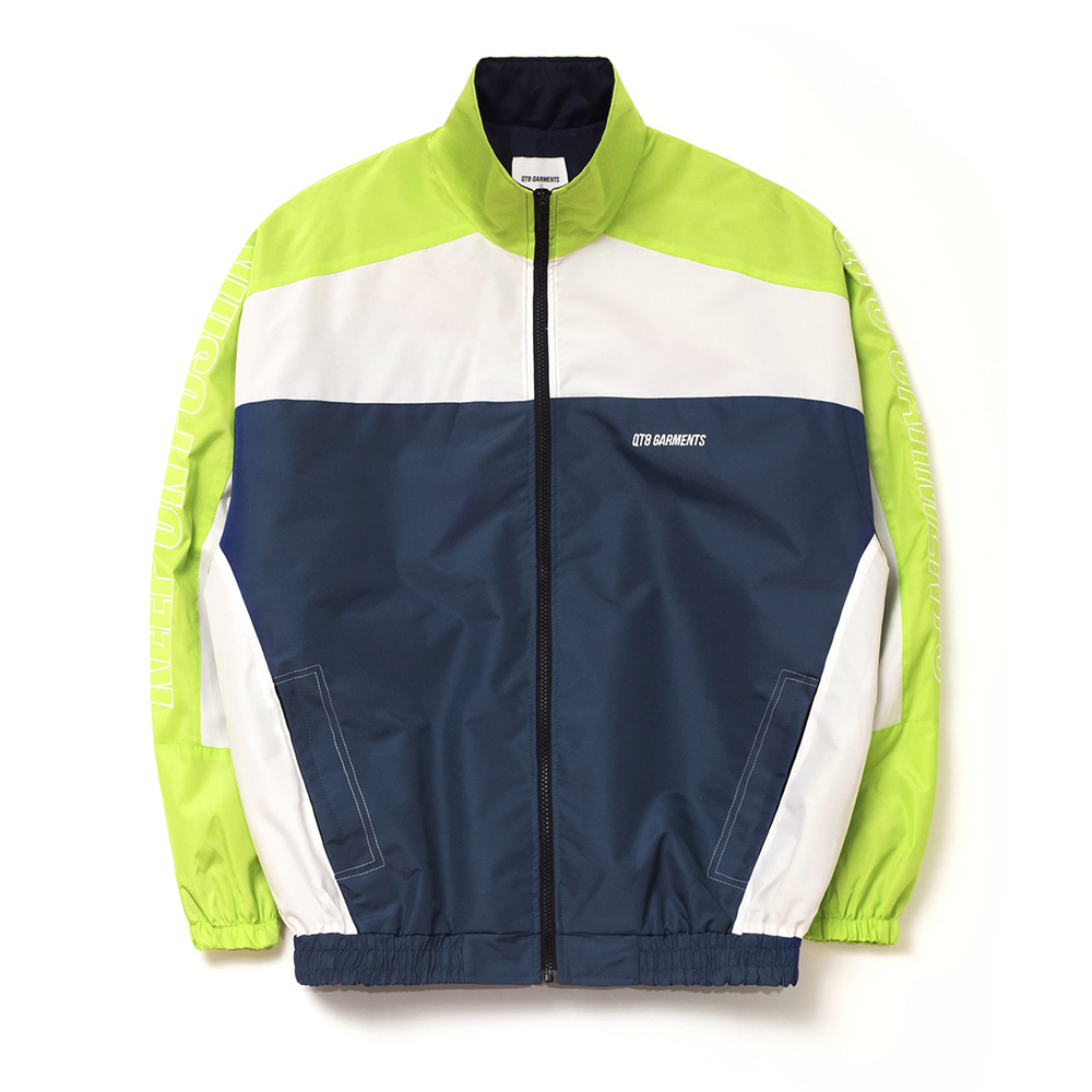 FG Retro Track Jacket (Lime/Ivory/Navy)