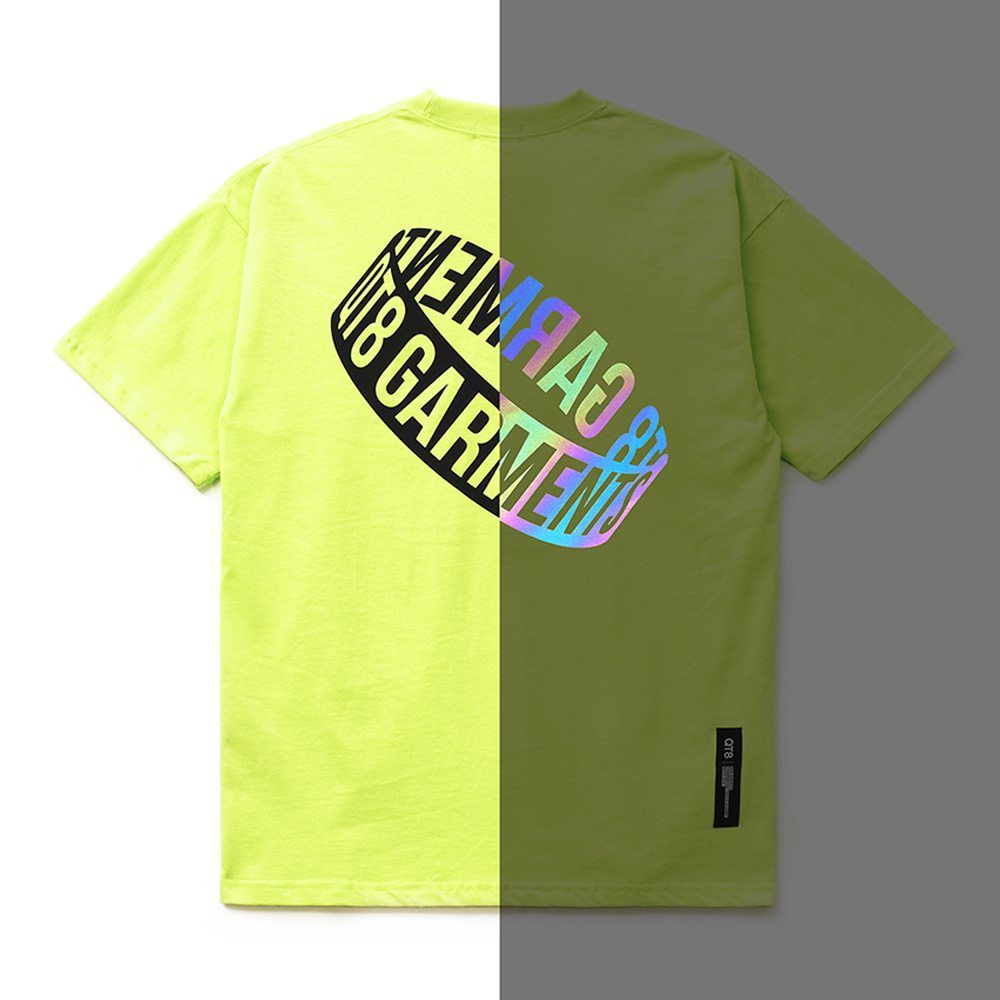 FG Reflective 3D Ring Tee (Lime)