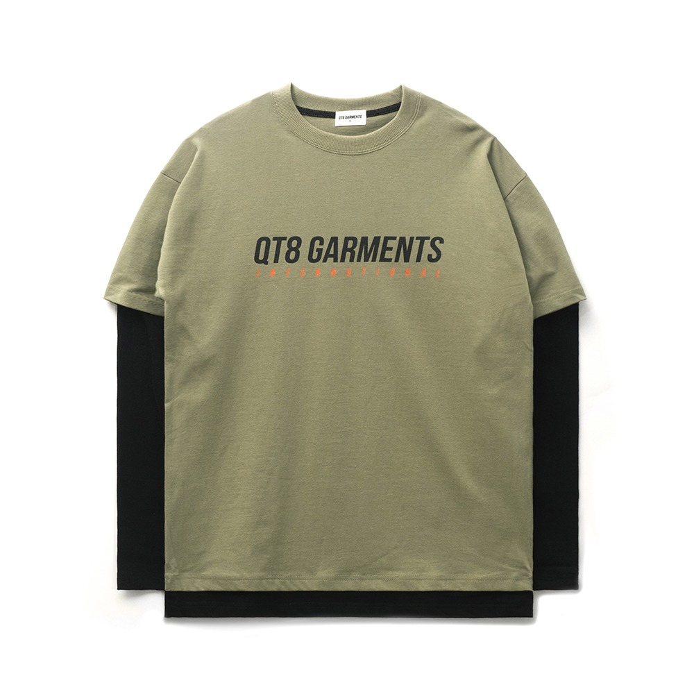 ND I.T Logo Layered Tee (Khaki)