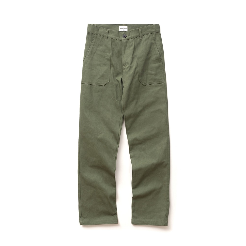ND Cotton Fatigue Wide Pant (Khaki)