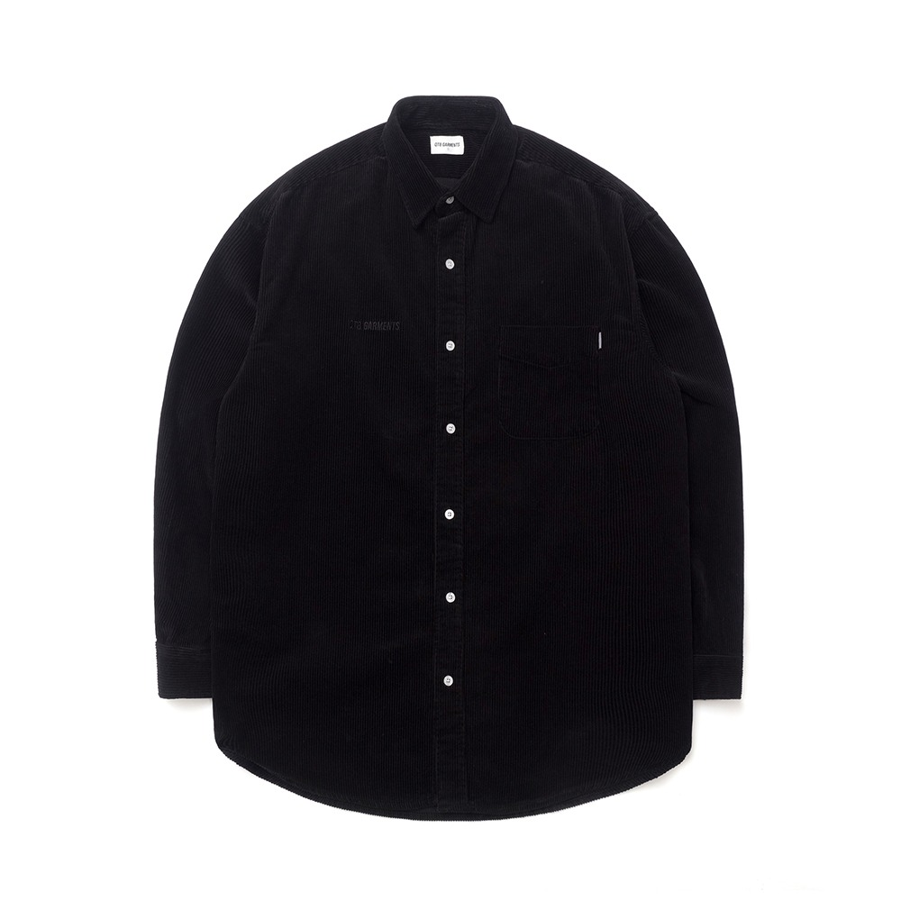 [하트시그널 정의동 셔츠]ND Corduroy Oversize Shirt (Black)